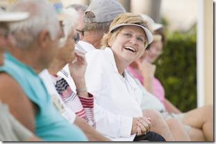 Seniors watching a game
